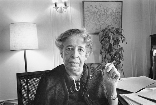 Hannah Arendt [Hannover, 14 ottobre 1906 – New York, 4 dicembre 1975]